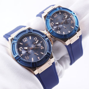 jam tangan Guess Blue Couple KW Super Grade +AAA Di Tangan