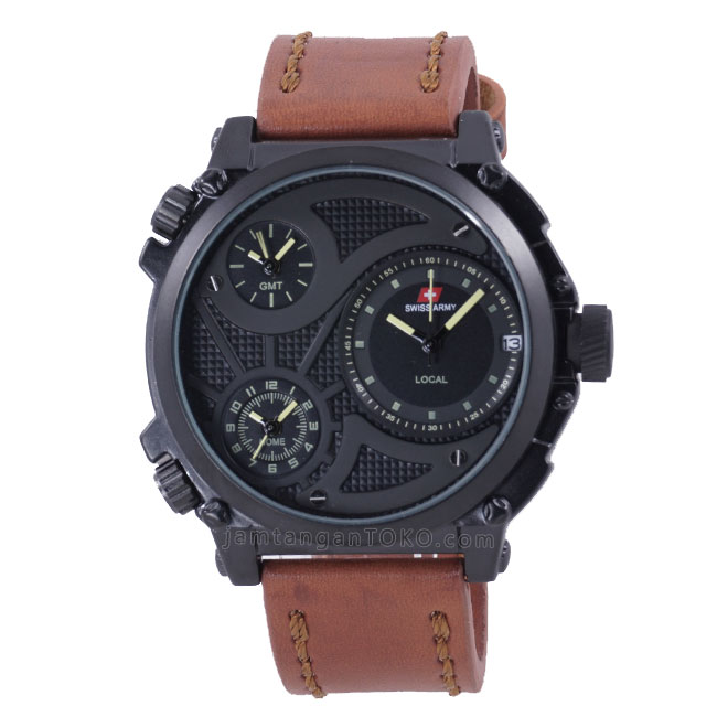 HARGA SARAP! Jam Tangan Swiss Army SA4118MB Infantry Triple Time 41199a22a1