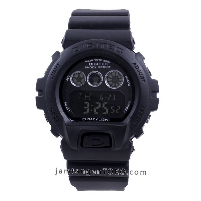 Jam tangan Digitec DG-2098T Full Black Digital Klasik Original