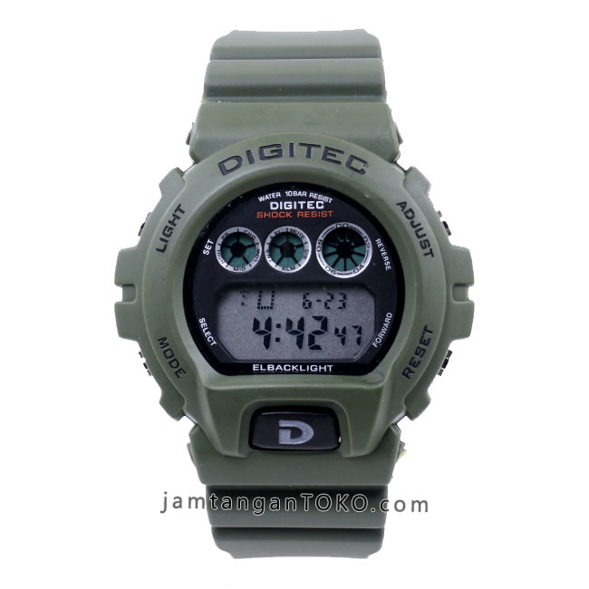 Jam tangan Digitec DG-2098T Green Army digital original