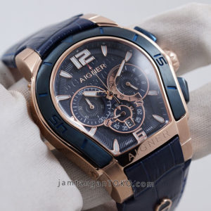 Hands ON Aigner Palermo Blue Rose Gold