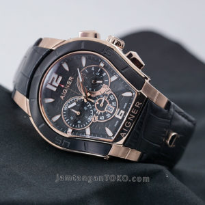 Jam tangan Aigner Palermo Black Rose Gold 44mm KW Super A58500
