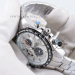 EDIFICE EF-543D-7AVDF Silver White Dial Bagian Crown