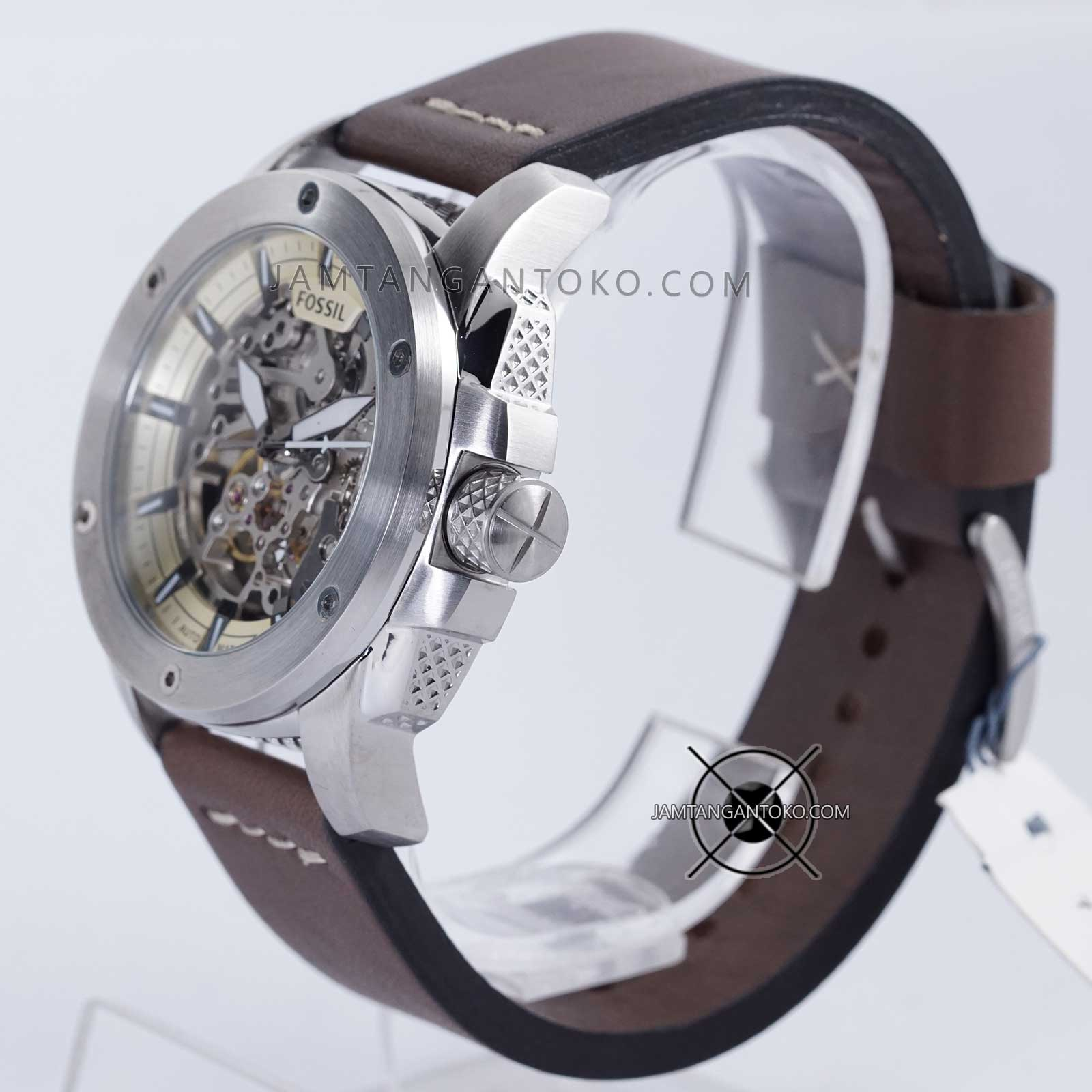 a523bb55e4178 Fossil ME3082 Modern Machine Automatic Black Leather Strap Watch. Source ·  Bagian Samping 1
