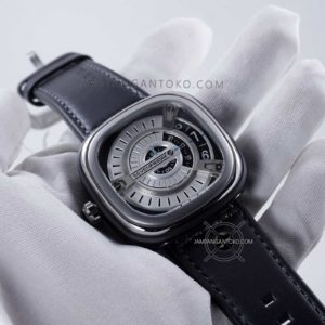 Hands ON SevenFriday M-Series M1-01 Hitam Silver Clone Original