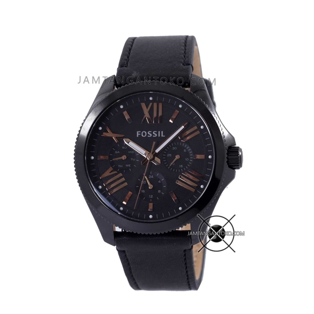 Jam tangan Fossil Cecile AM4523 Leather Black Original