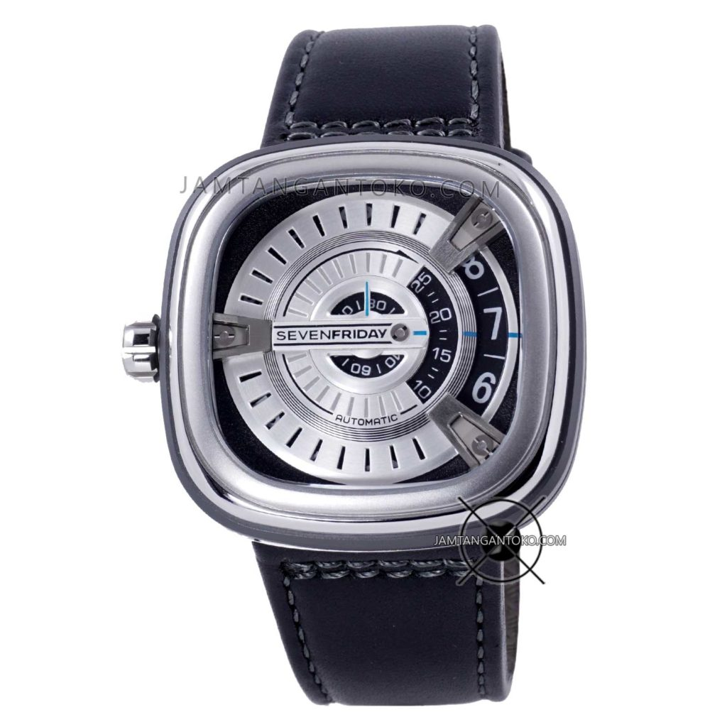 Jam tangan SevenFriday M-Series M1-01 Silver Black Clone Original