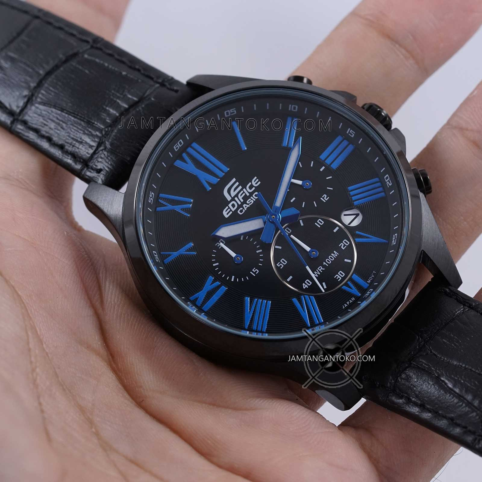 Casio Jam Tangan Pria Edifice Efr 512l 8avdf Hitam Daftar Harga Swiss Navy Merah Leather Strap Sn 8647 Casioo 554d 1a2vudf Chain Stainless Fullgold New