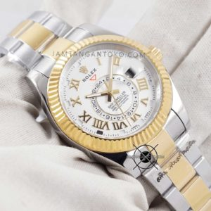 Rolex Sky-Dweller KW Super Gold Silver Hands ON 1