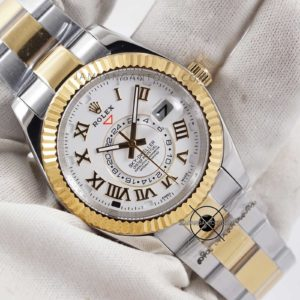 Rolex Sky-Dweller KW Super Gold Silver Hands ON 2