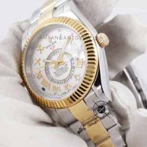 Rolex Sky-Dweller KW Super Gold Silver Hands ON 3