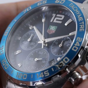TAG Heuer Formula 1 Silver Biru KW Super Close up