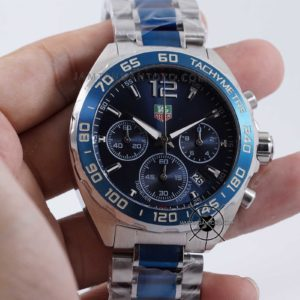 TAG Heuer Formula 1 Silver Blue KW Super Hands ON 2