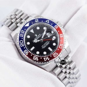 Jam tangan Rolex GMT Master II Pepsi KW Super Hands ON 1