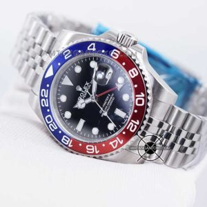 Jam tangan Rolex GMT Master II Pepsi KW Super Hands ON 2
