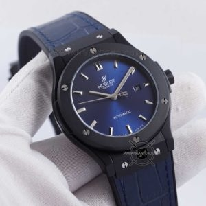 Hublot Classic Fusion 45mm Blue Ceramic Automatic KW SUPER Hands ON 1