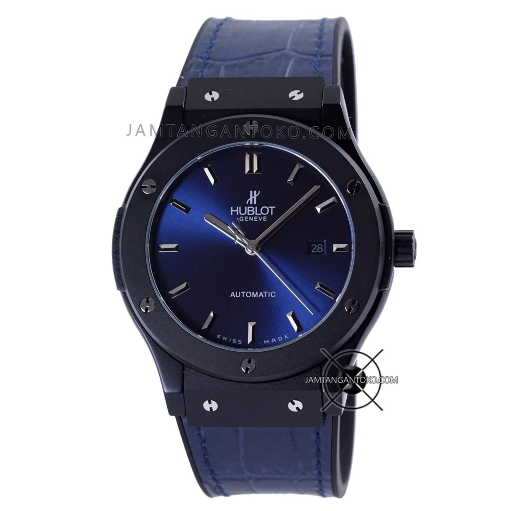 Jam tangan Hublot Classic Fusion 45mm Blue and Black Automatic KW SUPER