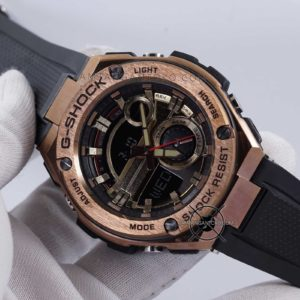 GST-210B-4A G-Steel Ori BM Rose Gold Hands ON 1