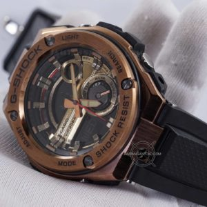 GST-210B-4A G-Steel Ori BM Rose Gold Hands ON 2