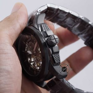 Fossil MODERN MACHINE ME3080 Black Automatic Skeleton Original Bagian Samping