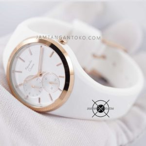 AC 2663 BF 36mm Rubber Putih Rose Gold Hands ON 2