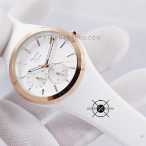 AC 2663 BF 36mm Rubber Putih Rose Gold Hands ON 3