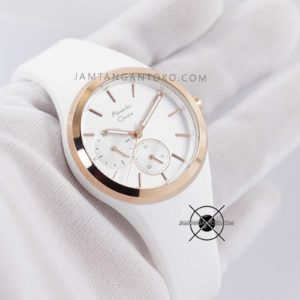 AC 2663 BF 36mm Rubber Putih Rose Gold Hands ON 4