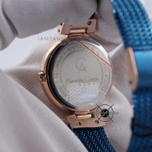 Alexandre Christie LADIES AC 2757 LD Blue Rose Gold Bagian Back Case