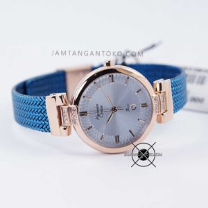 Alexandre Christie LADIES AC 2757 LD Blue Rose Gold Bagian Depan