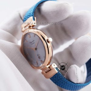 Alexandre Christie LADIES AC 2757 LD Blue Rose Gold Bagian Samping 1