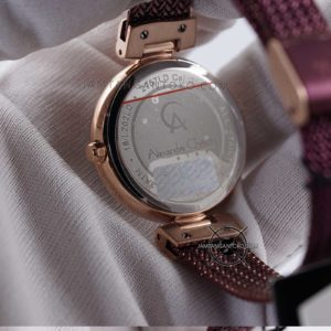 Alexandre Christie LADIES AC 2757 LD Ungu Rose Gold Bagian Back Case
