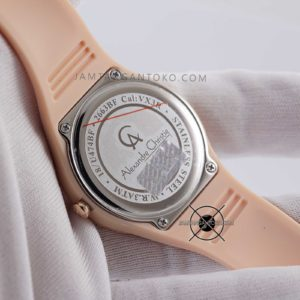 Alexandre Christie Sport AC 2663 BF 36mm Rubber Peach Rose Gold Ladies Original Bagian Back Case