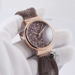 Alexandre Christie Wanita AC 2779 LH Brown Mesh Hands ON 1