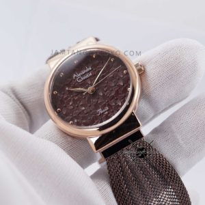 Alexandre Christie Wanita AC 2779 LH Brown Mesh Hands ON 2