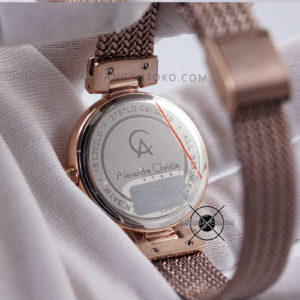 AC 2757 LD Brown Rose Gold Original Bagian Back Case