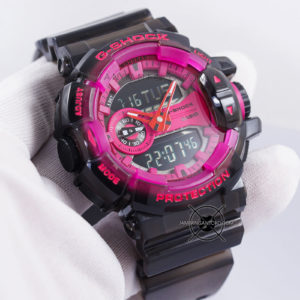 G-Shock GA-400SK-1A4 Black Pink Transparan ORI BM Hands ON 1