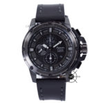 Men AC 6390 MC Kulit Full Black Chronograph