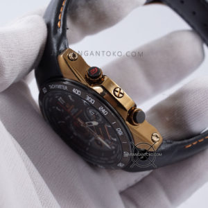 EQW-M1000L-1A Leather Black Gold Original BM Bagian Samping 1