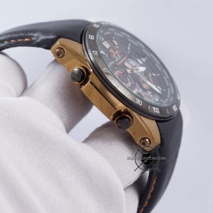 EQW-M1000L-1A Leather Black Gold Original BM Bagian Samping 2