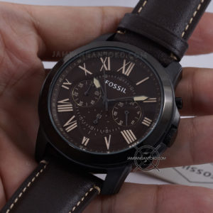 Fossil Grant FS5088 Chronograph Black Brown Dark Theme Original Hands ON 2