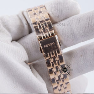 Fossil Jacqueline Diamond ES3546 Rose Gold for Ladies Bagian Strap