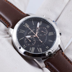 Fossil Pria FS4813 Grant Brown Leather Original Hands ON 1
