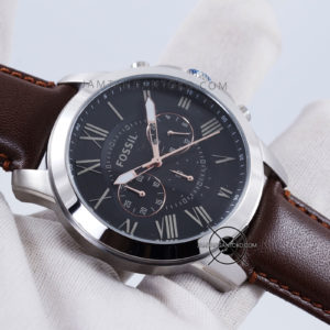 Fossil Pria FS4813 Grant Brown Leather Original Hands ON 2