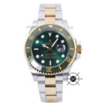 Submariner Date Combi Silver Gold Green Dial Ceramic Bezel 43mm