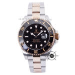 Submariner Silver Rose Gold Black Dial Ceramic Bezel 43mm