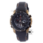 EQW-M1000L-1A Leather Black Gold Waveceptor