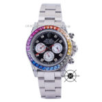 Sultan Cosmograph Daytona Rainbow 18K White 116599-RBOW Diamond
