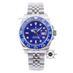 GMT-Master II 40mm Silver Blue Dial Ceramic Bezel