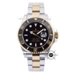 Submariner Silver Gold Black Dial Ceramic Bezel 43mm