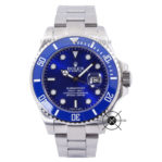 Submariner Silver BLUE Ceramic Bezel 43mm